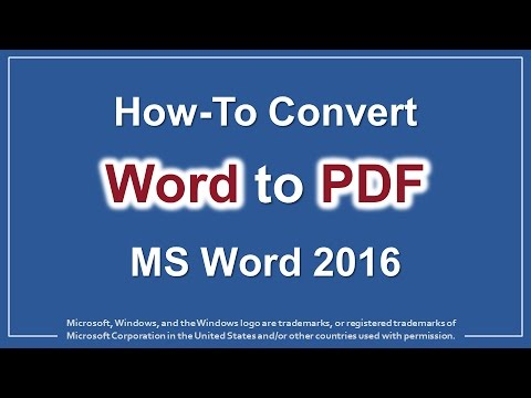 How to Convert Word to PDF in MS Word 2016