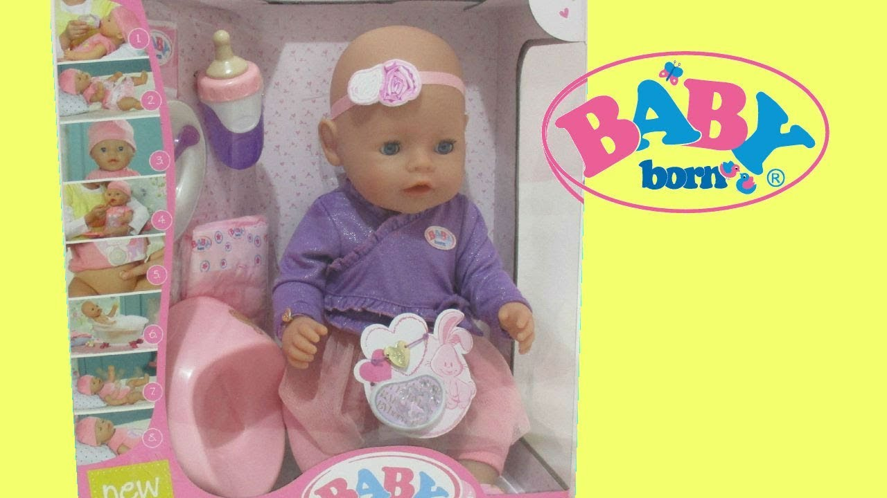 BABY BORN DOLL Interactive TOY from TOYS R US - YouTube