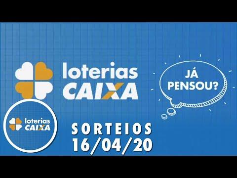 Loterias Caixa: Quina, Dia de Sorte e Timemania 16/04/2020