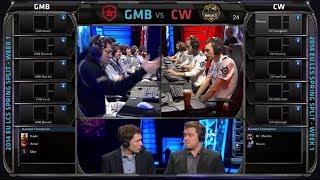 Gambit Gaming vs Copenhagen Wolves | Season 4 EU LCS Spring split 2014 Super week W1D1 | GMB vs CW