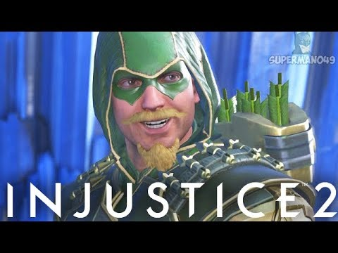 "AWESOME EPIC GREEN ARROW HOOD GEAR SET! - Injustice 2 ""Green Arrow"" Gameplay"