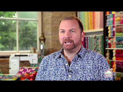 Stuart Hillard from The Great British Sewing Bee on Create & Craft!