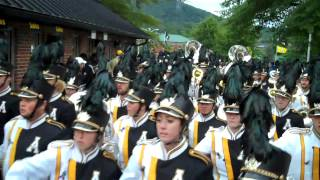 Appalachian State University Marching Mountaineers take the field 9/8/12.