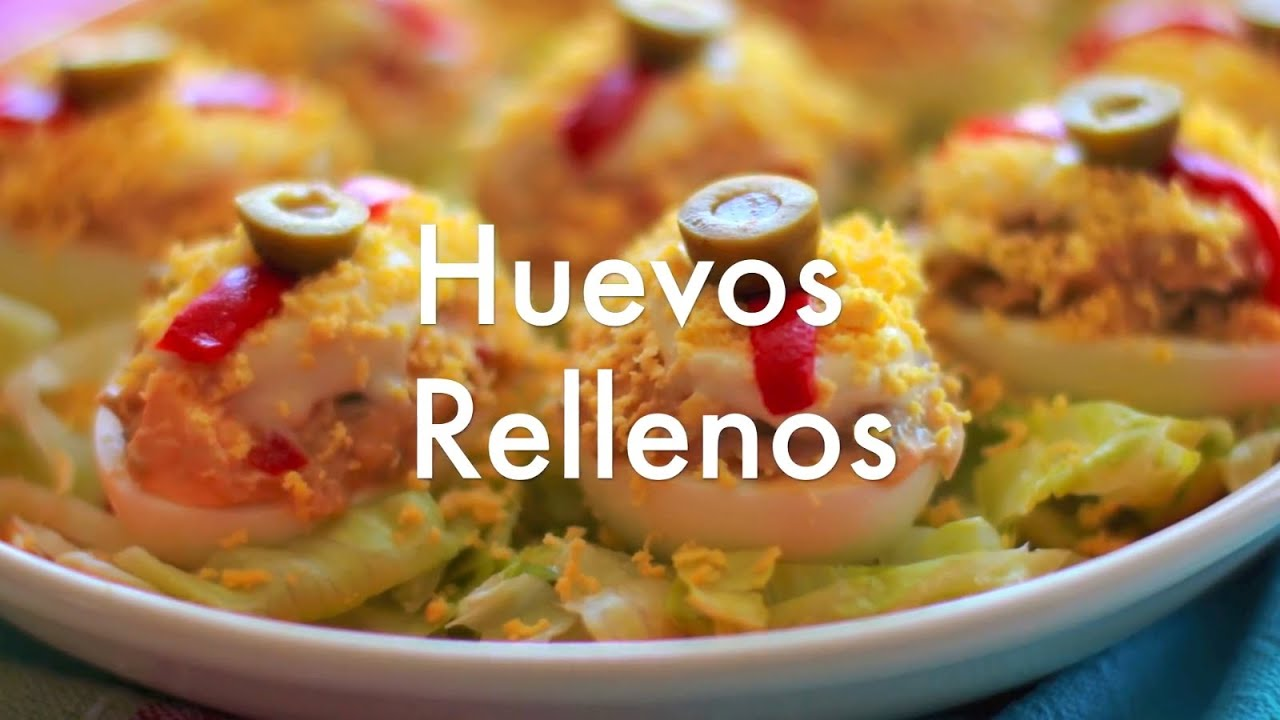 Huevos rellenos  Recetas de cocina fcil  YouTube