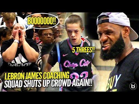 4d9c4f3ccfe LeBron James COACHING Bronny James Jr.   Blue Chips SHUTS UP Crowd Again!!  Ballislife 2.0