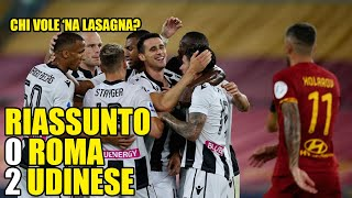 RIASSUNTO DIVERTENTE ROMA UDINESE 0-2 |DRAW MY MATCH |