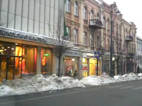 Weather in Vilnius, Lithuania, 2010-02-11, minus 5, from Oras TV.MP4