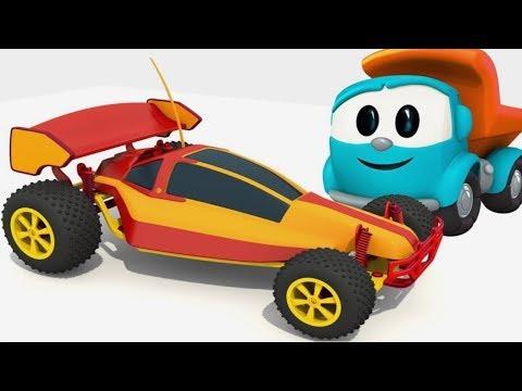Leo Junior baut ein Spielzeugauto. Zeichentrickfilme für Kinder