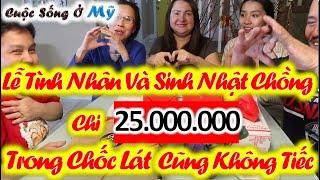 ❀//Vlog 88// Người Mỹ Tặng Quà Gì Trong Ngày Lễ Tình Yêu Valentine's - Sinh Nhật Chồng Yêu