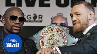 Mayweather vs McGregor final press conference in 60 seconds - Daily Mail