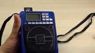 ОБЗОР: Портативное радио с ФОНАРЕМ, MP3 плеером, с USB и SD флешками!