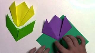 簡単なちゅーりっぷの折り方です。 【まとめサイト】折り紙(Origami)の...