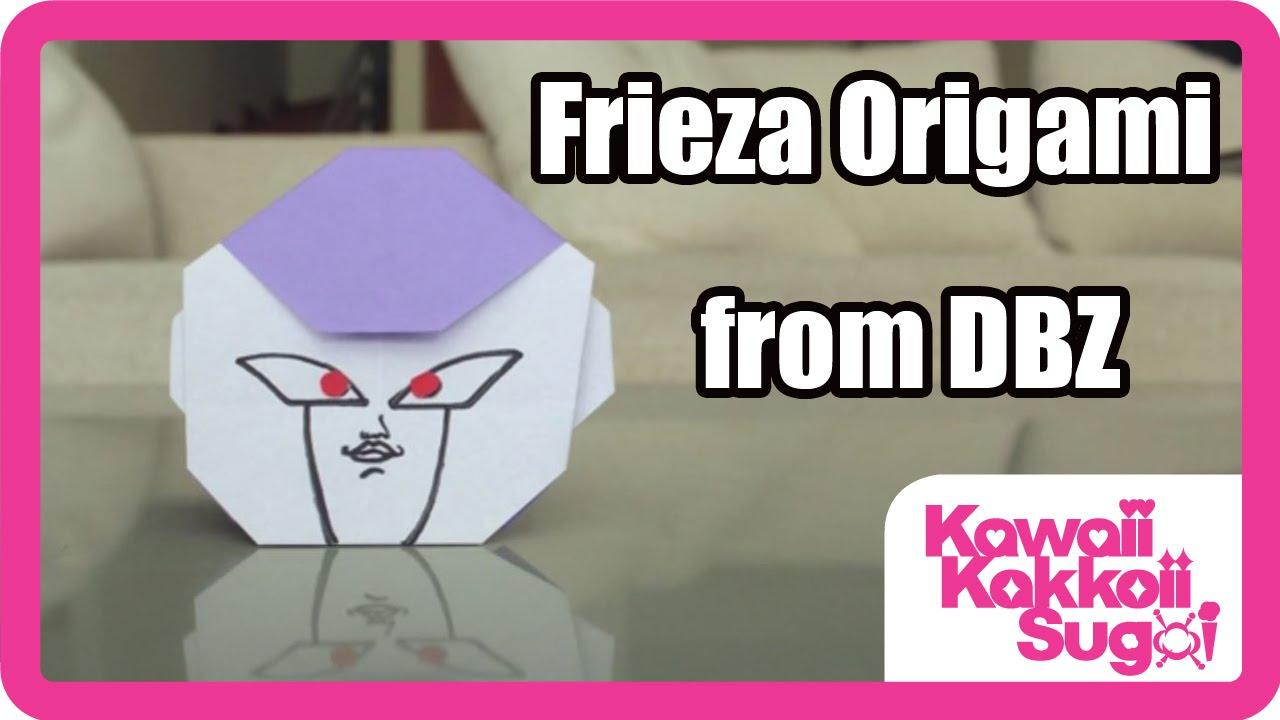 Dbz Frieza Origami How To Fold Hd Youtube