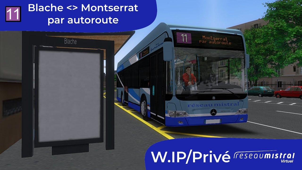 🚌Réseau Mistral Virtuel-Ligne 11-TL026-MB O530 FL N°776🚌