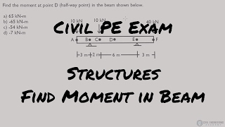 Structures - Find Moment in Center of Beam