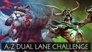 Dota 2 A-Z Dual Lane Challenge - Tusk and Undying