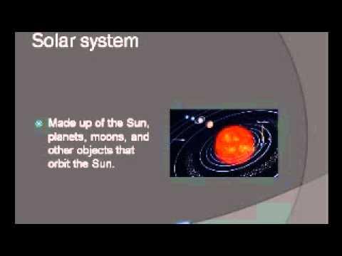 Solar System Vocabulary Third Grade - YouTube