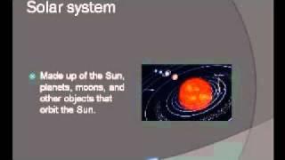 Solar System Vocabulary Third Grade