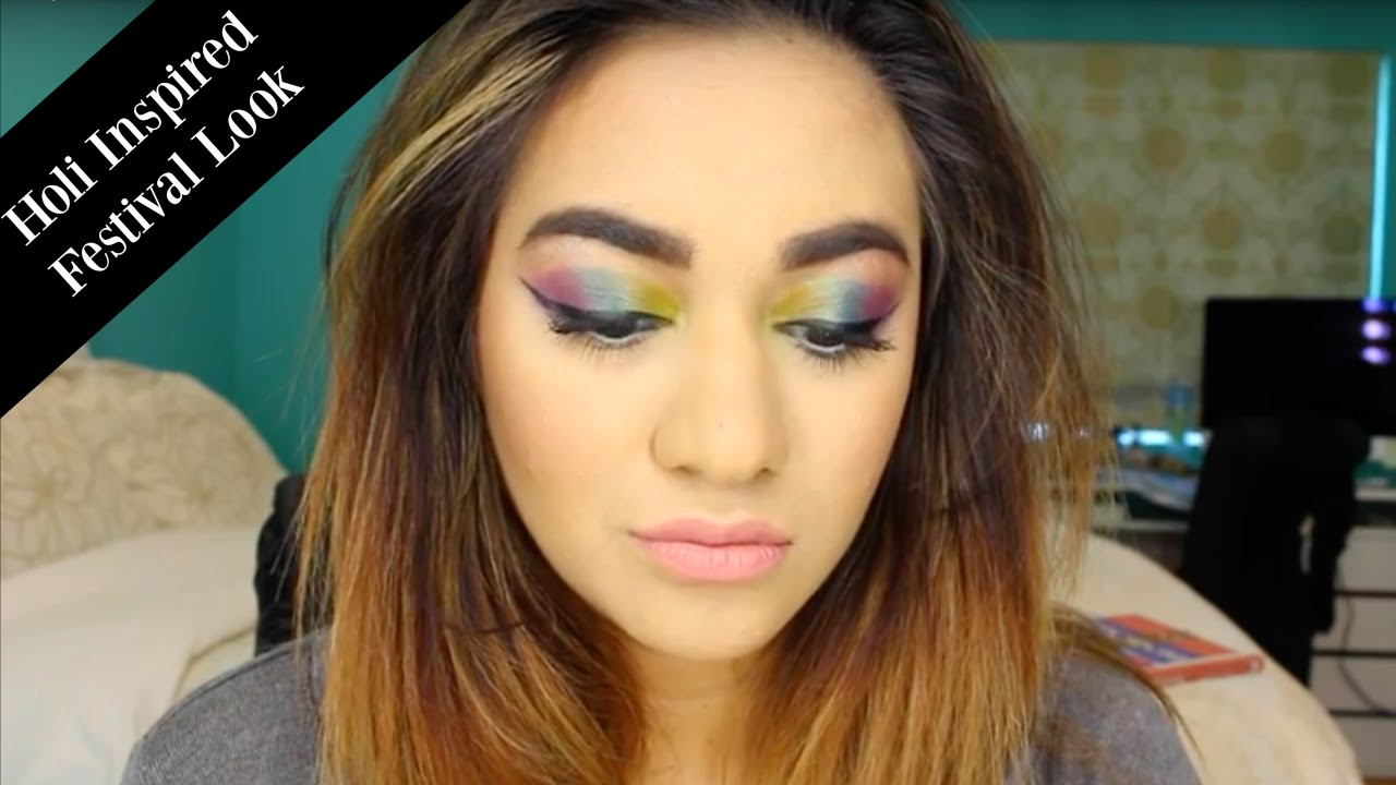 Download Holi Inspired Vivid Festival Makeup Look