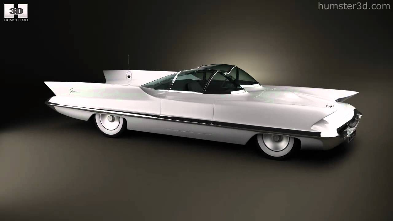 Lincoln Futura 1955 By 3d Model Store Humster3d Com Youtube