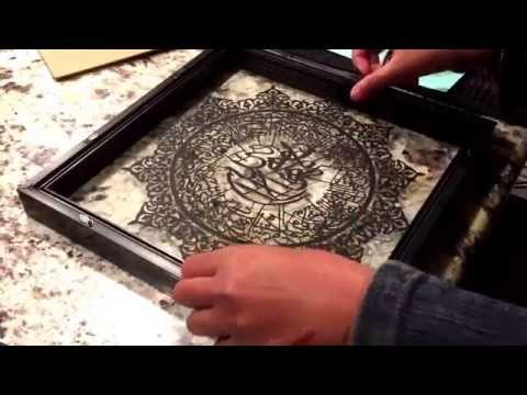 How to Frame Paper Cut Art