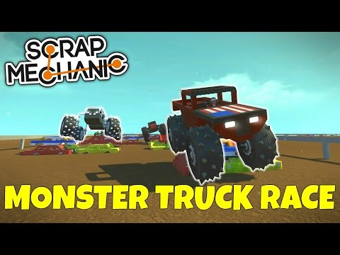 MONSTER TRUCK RACE! - Scrap Mechanic Multiplayer Gameplay - EP 220