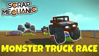 MONSTER TRUCK RACE! - Scrap Mechanic Multiplayer Gameplay - EP 220