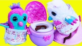 Baby Hatchimals Potty Training! Poop Diaper & Pee Mess Bad Baby Poo + Toilet Surprises