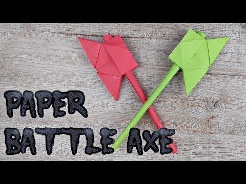 Origami Paper Battle Axe | How to Make Ax Weapon Model Toy Easy Tutorials | DIY Как сделать ТОПОР