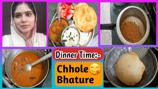 Dinner Time: Yummy Chole Bhature Recipe