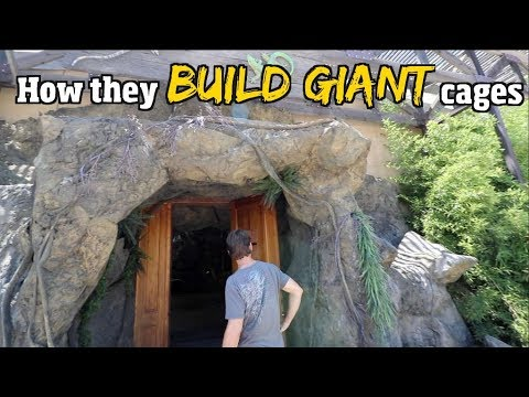 How they Build Giant FAKE reptile cages (cage Reveal pt/ 2) for snake & gators + Man Made rock work
