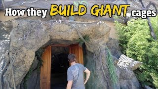How they Build Giant reptile cages (cage Reveal pt1of 2) for snakes & gators + Man Made rock work