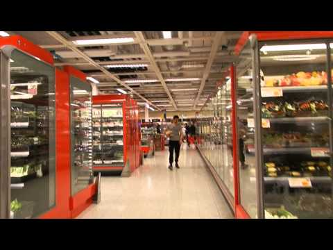 Stockholm - ICA Maxi Supermarket in the City Centre - A Tour 2015 06 06