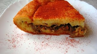 Закусочный пирог с куриной печенью