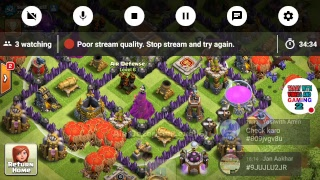 My Clash of Clans Stream base review