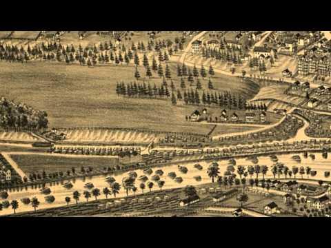 Glens Falls New York 1884 Panoramic Bird's Eye View Map 6969