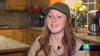 Teenage girl joins Boy Scout troop in Folsom
