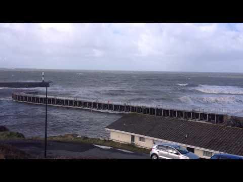 Aberystwyth Harbour High Spring Tide February 23rd 2015