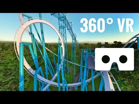 [360° video] Roller Coaster 360 VR Box Busch Gardens Google Cardboard Extreme Fast Rollercoaster