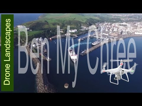 Douglas and the Ferries inc Ben-My-Chree and Manannan - Isle of Man by Drone