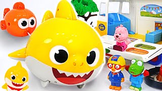 I'm lost ! Let's go find the way with Baby shark! | PinkyPopTOY