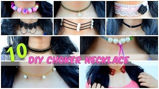 DIY: 10 Quick And Easy Choker Necklace