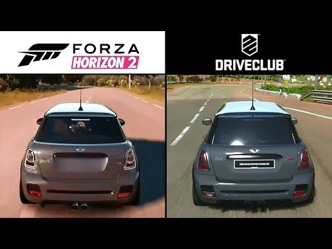 DriveClub PS4 Vs Forza Horizon 2 Xbox One Gameplay Graphics Comparison Video