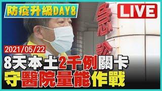 【LIVE】全國三級警戒DAY8 8天本土2千例關卡 守醫院量能作戰 | TVBSNEWS #確診 #陽性率 #本土