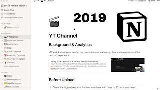 Notion Pt 2 -Youtube & Blogging