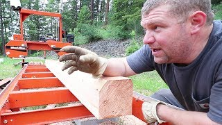 WOOD-MIZER HACK: ONE MAN Moves 1000 POUND BEAM Alone