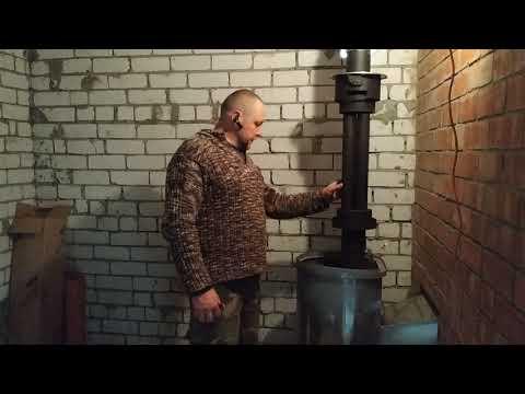 Как вывести трубу от печи через стену в гараже