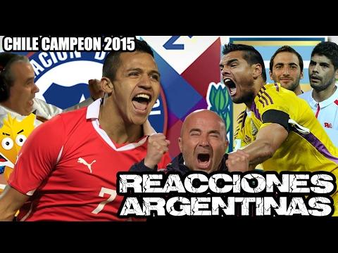 Compilado: Reacciones argentinas - Final Copa América 2015