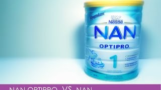 Детское питание NAN и NAN OPTIPRO. Сравнение.