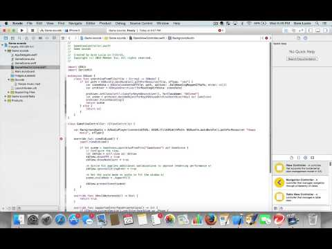 Adding sounds to games using Xcode
